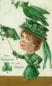 And in here even the bird of prey is green. Nevertheless, the woman has a rather oversized head for some reason.