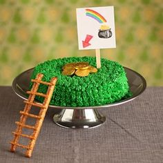 Last year, I did a post on leprechaun traps. So I might as well include this cake in the mix this year.