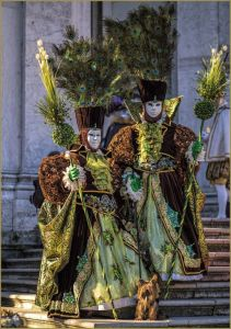 And they have tall feather headdresses to show it. Yet, I'm not sure about the lime green robes.