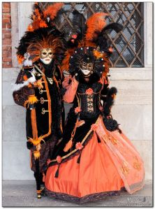 Sure they might seem like they're going to a Halloween party. But this is for the Venice Carnival which is in February or March.
