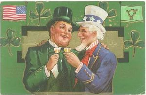 I know this is supposed to be a gesture of Irish and American friendship. But the Irish guy is represented by an oversized leprechaun.