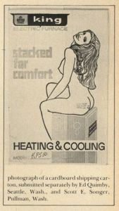 Well, I have to hand it for King in this case even though I usually don't approve of naked women. But this one shows that you can sit on their furnace and not burn your ass off. What can be better than that.