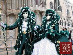 They can also wear these outfits for Saint Patrick's Day if they wanted to. But it's not a big holiday in Italy.