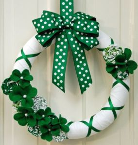 My Saint Patrick's Day craft post contained a wreath similar to this. However, it didn't have some of the decorations though.