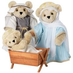 Yes, this is a teddy bear nativity scene from the Vermont Teddy Bear Company. Shepherds and wise men not included.