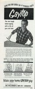 """I'm sure this ad gets unintentional shits and giggles because """"gay"""" has a different connotation these days. The smiling guy in the plaid shirt make this ad even funnier."""