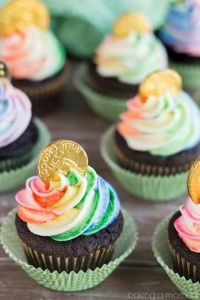 Even has rainbow icing on top. Love how they're chocolate, too.
