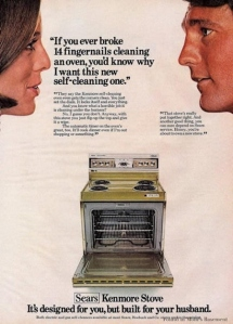 So does this mean Kenmore thinks women belong in the kitchen? Because it sure seems like it.