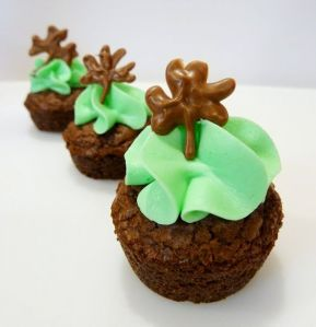 Well, the shamrock is chocolate. But at least these are topped with green icing.