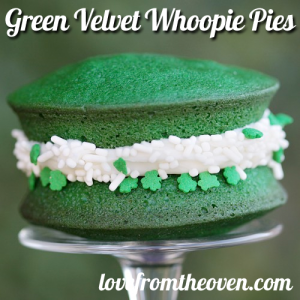 Well, green velvet gobs anyway. Yes, they're also called whoopie pies but I think the name is ridiculous.