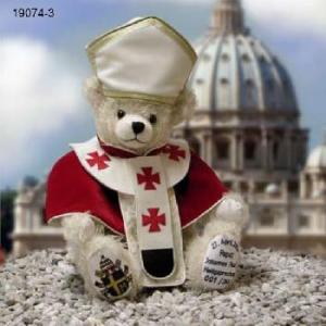 Yes, it's another pope bear. Yes, I know I had one on the least teddy bear post. But this one has the funny hat and a different outfit.