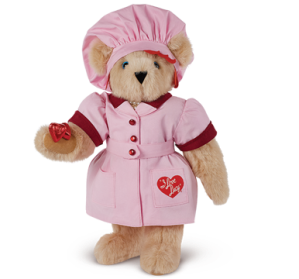 Well, this is a Vermont Teddy Bear tribute to I Love Lucy. And they seem to have this bear in Lucy's chocolatier outfit.