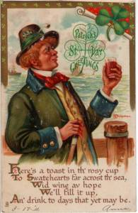 Another depiction of an Irishman drinking. I know it's an offensive stereotype that never seems to die.