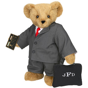 Okay, not really. But you have to like how he has an initialed briefcase and his own calculator.