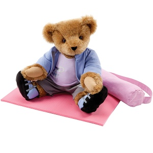 Includes a yoga mat with carrier. Not sure what this pose is supposed to be though.