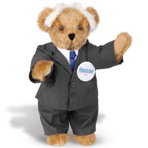 Love how the Bernie Sanders bear has his hairstyle. Yet, this Vermont teddy bear is always a champion for the working class of all types.