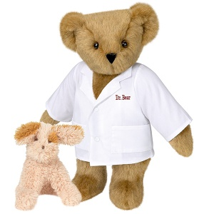 So that's what a teddy bear vet looks like. Not sure what to think about the bunny though.