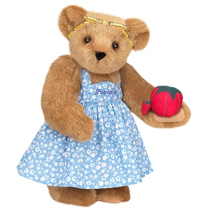 She even has her own pin cushion and tape measure bow. But the dress is similar to the cooking bear.