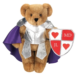 He even has his own shield with hearts. So you know he just wants your love.