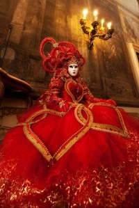 Well, I call her the Queen of Hearts because of her costume. Hope she doesn't call me for my heading for this.