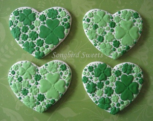 Well, at least these are in lovely hearts and in green. So they'll certainly delight.