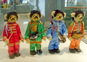 This is from a teddy bear museum. Yet, I love how each one of them is dressed in the appropriate uniform.
