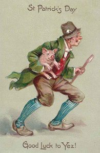 For some reason, pigs were seen as symbols of luck back in the day. Not sure why.