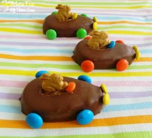 Make sure the M&M wheels all match. Nevertheless, a great activity for kids.