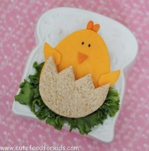 Though this cheesy chick will soon be eaten. But it's all so adorable.