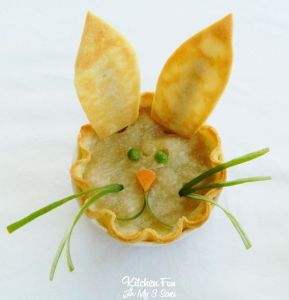 So it's a bunny pie with chicken in it. Yeah, sometimes these Easter treats can be ridiculous.