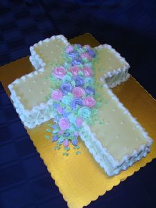 Well, as a Catholic, I certainly don't mind such cakes. But I love the pink and purple roses the best.