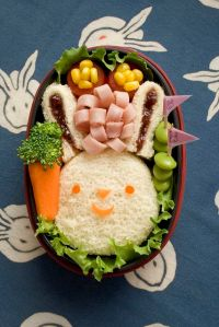 Well, it's a few sandwiches in a bento lunch. But at least it comes with a carrot.