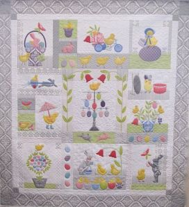 Each square depicts an Easter scene with chicks and eggs. Many will find it a real treat.
