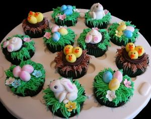 Includes bunnies, chicks, and eggs. Professionally made but perpetually adorable.