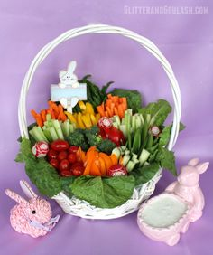 You can have it arrange in neat bunches so it would resemble eggs and flowers. There's even a bunny dip tray to go with it.