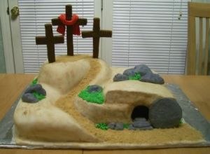 Though you won't find Jesus on this cake. For he has risen. Check the tomb, please.