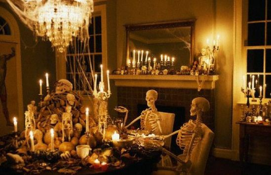 View Great Halloween Living Room Decorating Ideas