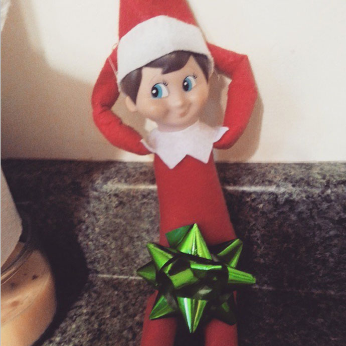 Elf on the shelf having sex