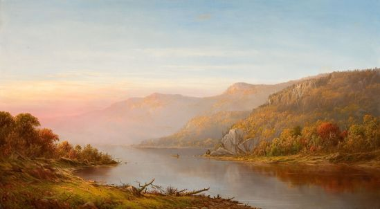 Mountain_River_Scene_Autumn_of_the_Hudson-Charles_Wilson_Knapp-1870