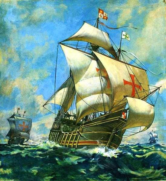 Santa_Maria_Pinta_Nina_McConnell_painting_Christopher_Columbus