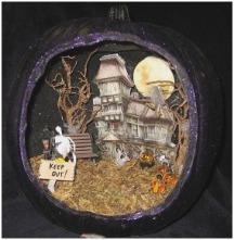 fall season diorama Awesome lighted pumpkin diorama