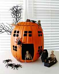 Haunted-House-Skeleton-Pumpkin-Made-With-a-Foam-Pumpkin-645x809