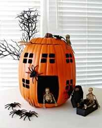 Haunted-House-Skeleton-Pumpkin-Made-With-a-Foam-Pumpkin-645x809