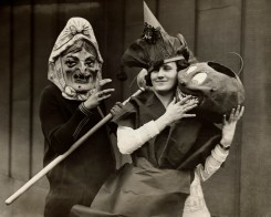 Two People Wearing Halloween Costumes