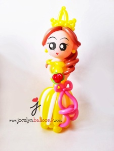 balloon princess sculpture face