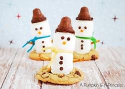 Marshmallow-Snowman-Treats-Recipe