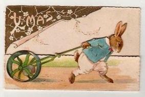 christmas bunny 1890s