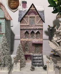 plum-townhouse-putz-paper-glitter-christmas-house