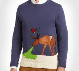 puking-reindeer-ugly-christmas-sweater-0