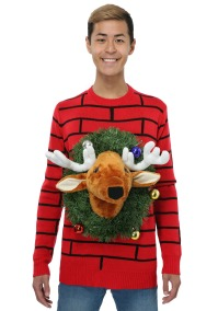 reindeer-head-ugly-christmas-sweater